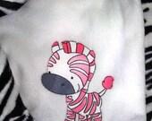 Bubble Gum Pink Zebra Baby Blanket