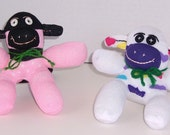 Mini Pink and Purple Sock Monkeys
