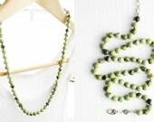 Handknotted Australian Jade Necklace - Bracelet