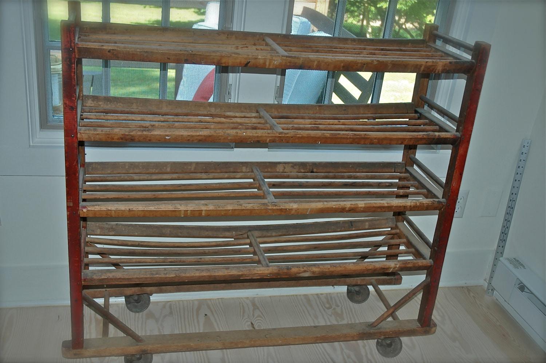 Antique Shoe Rack Factory Cart