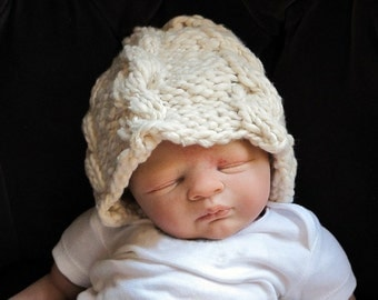 Chunky Organic Cabled Hat for Newborns