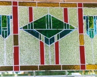 Geometric Stained Glass Panel