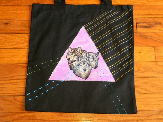 Laser WOLF Tote Bag 008
