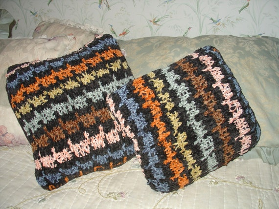 Black Chenille Throw Pillows : Chenille Black Colorful Throw Pillows