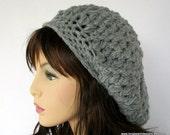 crochet Pattern slouchy hat crochet beret pattern Washington Street Slouchy Hat