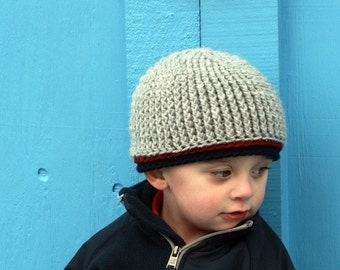 Crochet PATTERN, Crochet Beanie Pattern, Cole William Beanie, All sizes, Infant through Adult