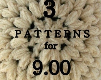 3 PATTERNS for 9 dollars permission to sell finished product