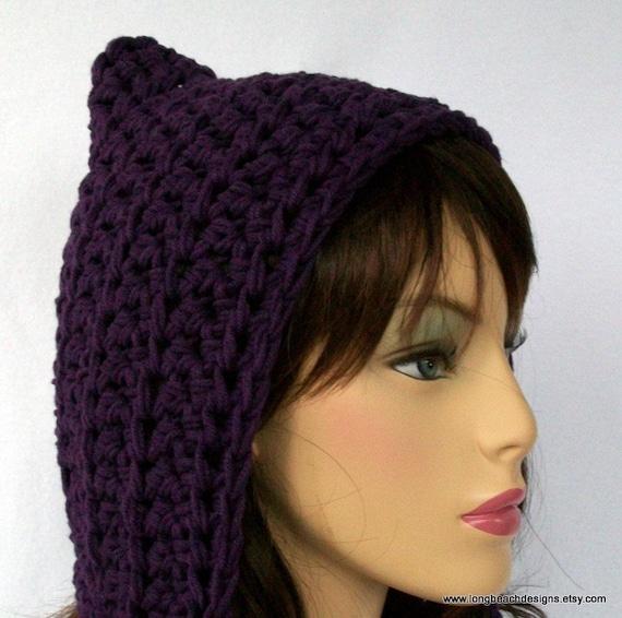 Crochet Hat Pattern, Hood Pattern, Pixie Hat Pattern,  Butternut Basin Hood Style Hat