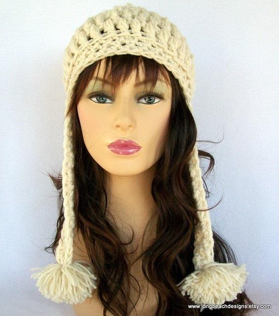 Free Crochet Pattern For Mens Earflap Hat : Crochet Ear Flap Hat Pattern Crochet Hat Pattern Crested