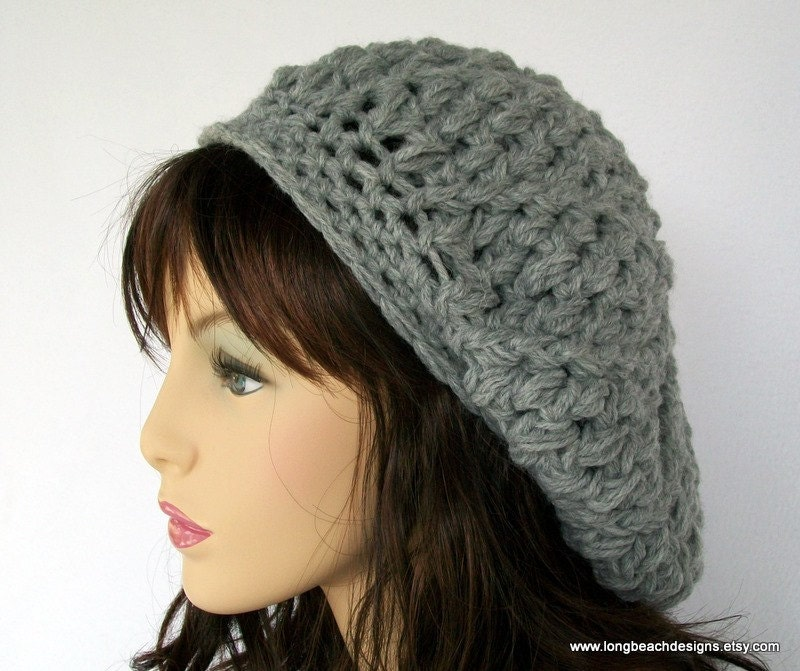 Crochet Patterns Slouchy Beanie : crochet Pattern slouchy hat crochet beret by longbeachdesigns