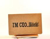 I'm CEO...B.... - Mature Content - Moleskine Cahier