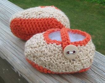 Crocheted Baby Shoes - Sugar and Spice