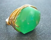 The Mint Green Chrysoprase Ring, style number CH9