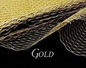 Gold Metallic Millinary Netting - Russian or French Net Birdcage Material, Half or Full 1 Yard