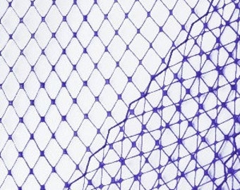 Purple Veil Netting - Russian or French Net Birdcage Material, Half or Full 1 Yard
