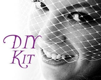 DIY Glamorous Birdcage Veil Kit - Couture Quality Materials