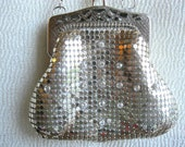 Silver Mesh Bag Whiting and Davis 1950s