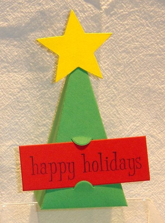 Christmas Tree Party Favor Boxes Placecards Teacher Gift