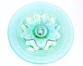 Garden Art Decoration Glass Plate Flower Upcycled TANYA
