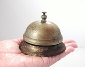 Vintage Desk Counter Bell Rusty Metal