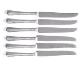 Reserved For Patti Knife Set Art Deco Pattern Vintage Silverplate WM Rogers 6 Knives