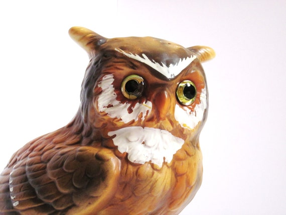Owl Planter Vase Figurine Vintage Lefton