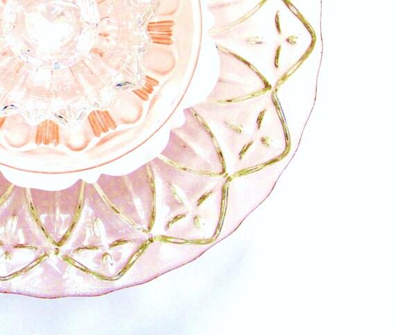 SALE Garden Art  Decoration Glass Plate Flower Upcycled PETALS