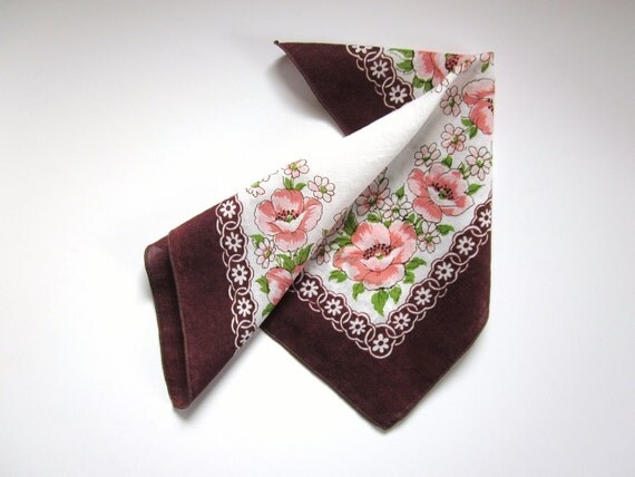 Dry Your Tears Handkerchief Vintage Hankie Hanky