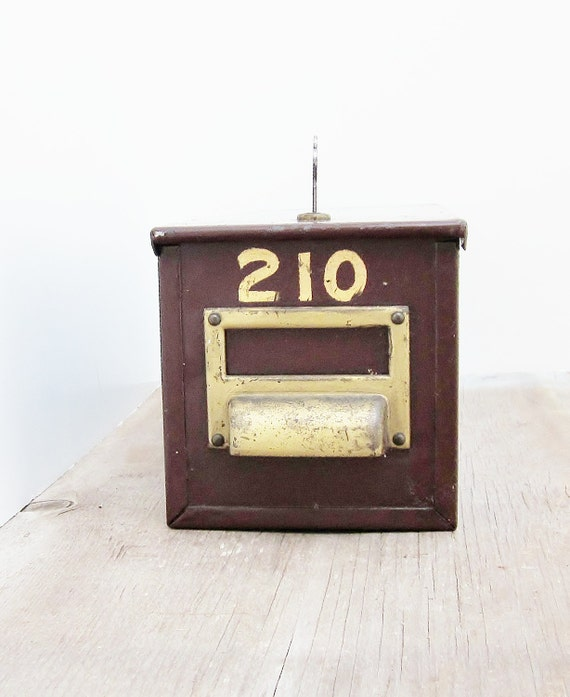 Metal Lock Box Safety Deposit Box Vintage Commercial Industrial Office