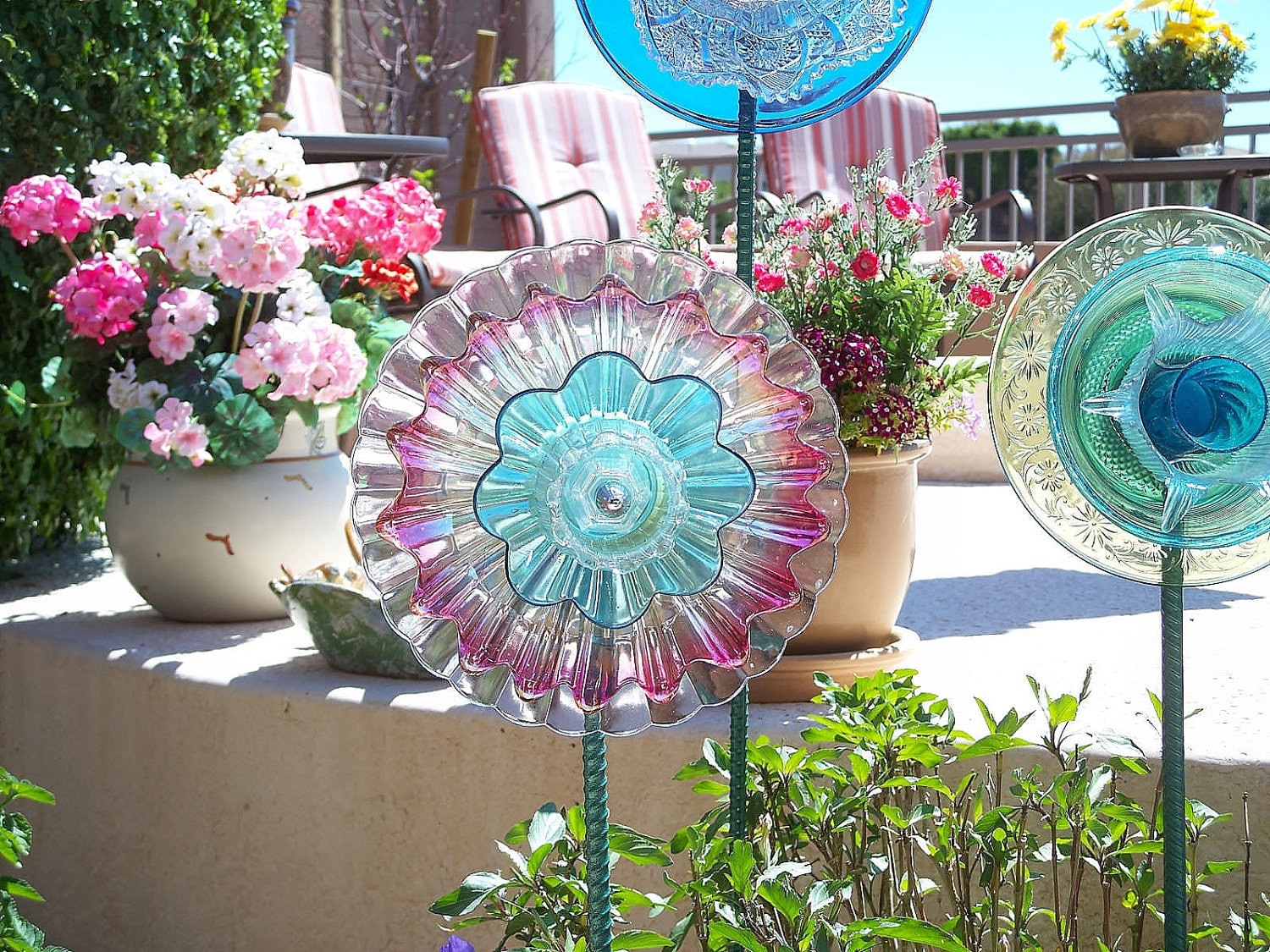 yard and garden art outdoor decoration glass garden by