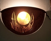 Copper Wall Sconce,Moon And Frog Design