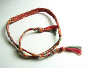 Knotted Bracelet - Diamond Pattern ( Laser Red / Orange / Gun Grey)