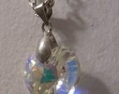 Swarovski Crystal AB Heart 14mm Necklace (FREE SHIPPING)