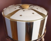 1960' s,  Vintage Guildcraft Stars and Stripes Insulated Covered Tin