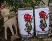"Holly Hobbie ""Christmas is a Gift of Joy"" Limited Addition Coca Cola Glass"