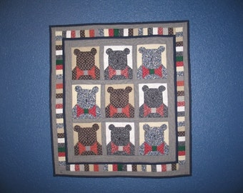 Bow Tie Bears Wall Hanging