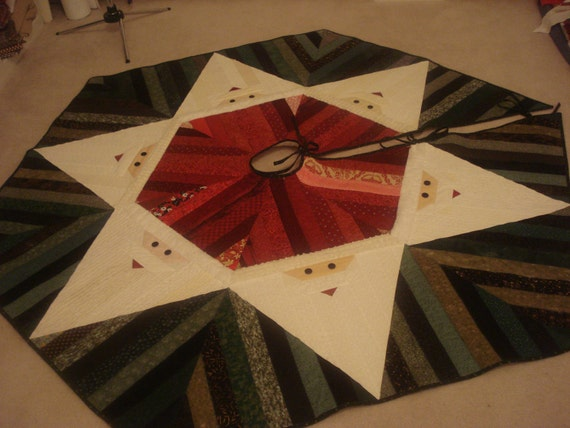 Jelly Roll Santa Christmas Tree Skirt By Softpatches On Etsy