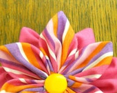 Pink/Stripey Flower (free shipping)