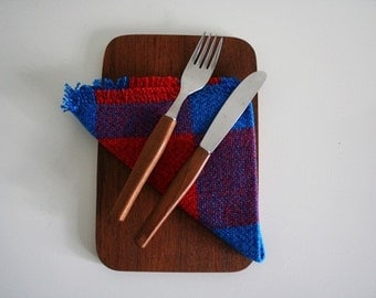 Teak Platter and Cutlery Set