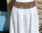 70s designer riviera chic.boho.Rock chick. Crochet. 2 piece.