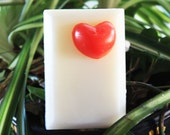 Red Heart Soap Bar Sap Bar   One Lonely Red Heart