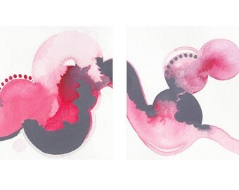Diptych Series: Abstract Painting /// 2