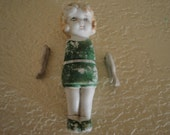 Very Old Bisque Doll with Unattached Arms