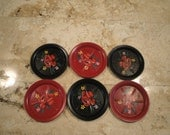 Set of 6 Metal Coasters - Clearance