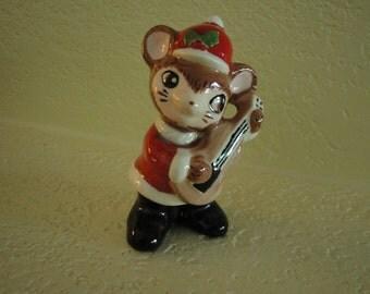 Christmas Mouse Figurine