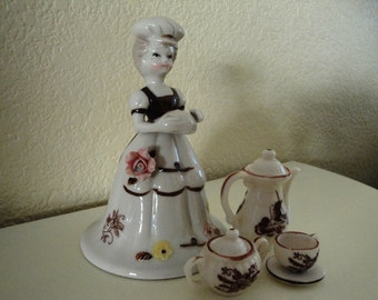 Bone China Figurine Bell and Accessories