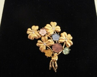 Monet Flower Cluster Pin