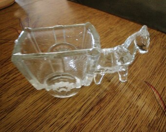 Glass Horse and Wagon