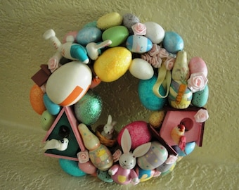 7 Inch Handmade Easter Wreath