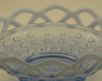 Beautiful Blue Latticework Candy Dish